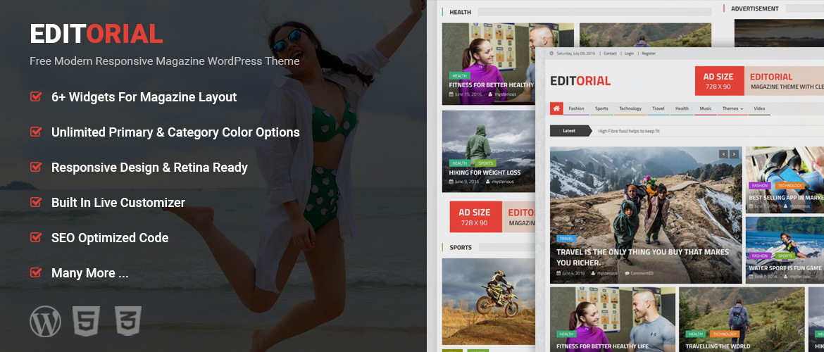 Beautiful Free WordPress Themes, Free Responsive WordPress Themes ...