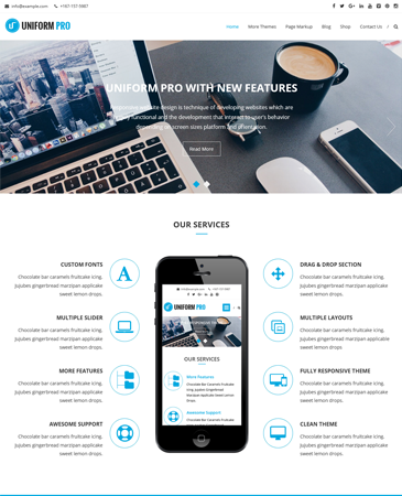 Awesome Premium WordPress Theme Uniform Pro