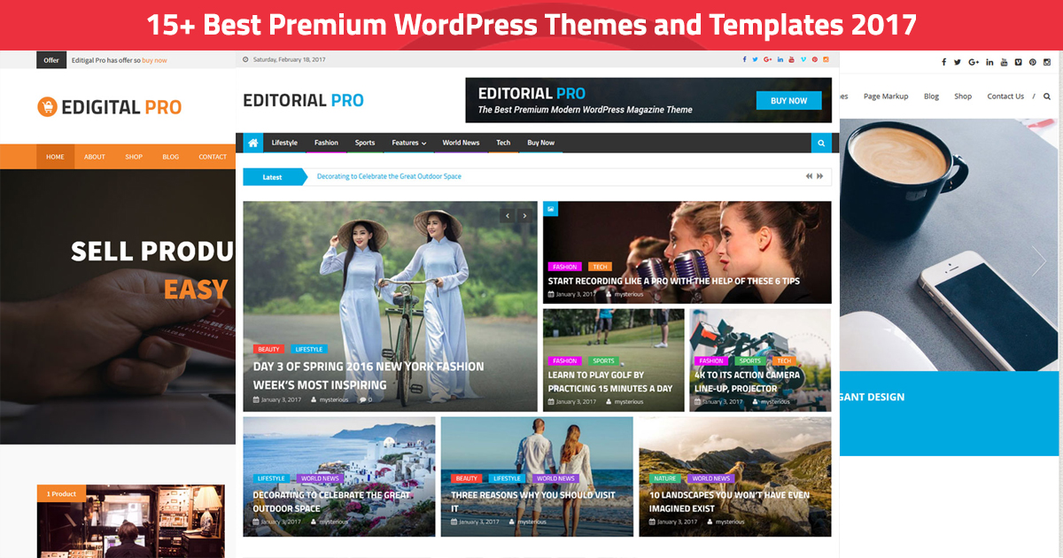 best premium wordpress themes and templates