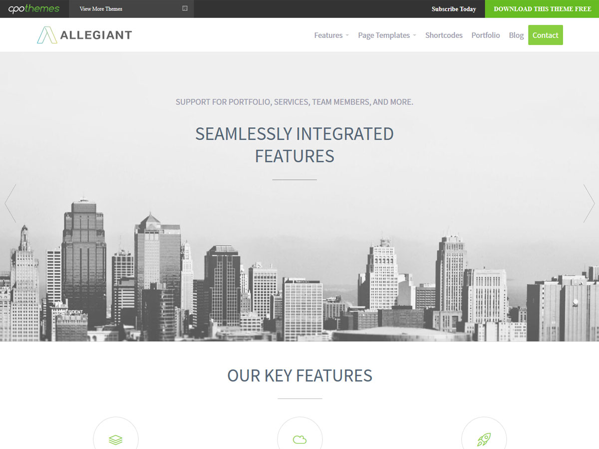 One Page WordPress Theme Free, Best Free WordPress Themes ...