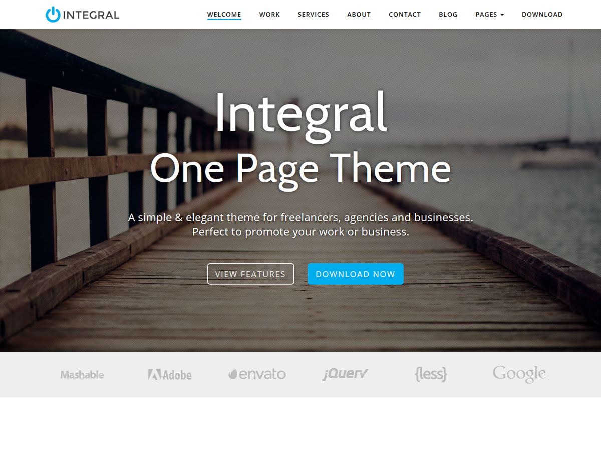 Google ventures theme - It Is A Free Responsive Wordpress Theme Using Parallax Effects To Grab Attention And Some Elegant Icons And Featured Images For A Full Portfolio