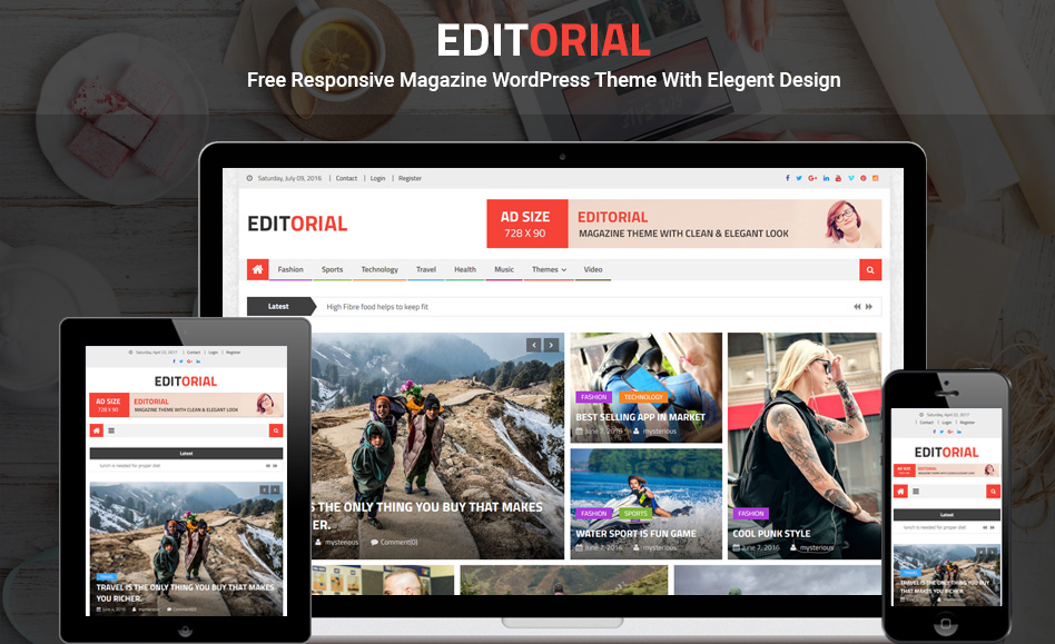 free responsive magazine WordPress theme