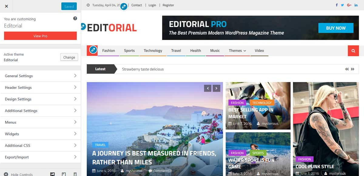 wordpress-live-customizer-editorial