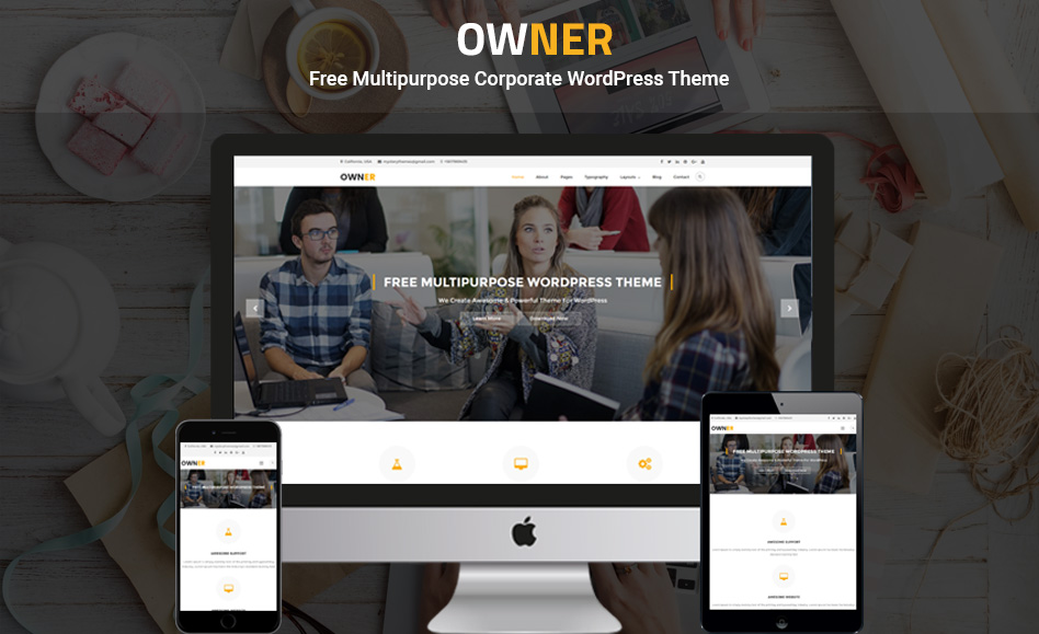 Free Multipurpose Corporate WordPress Theme