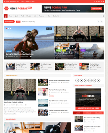 Creative WordPress Magazine Theme