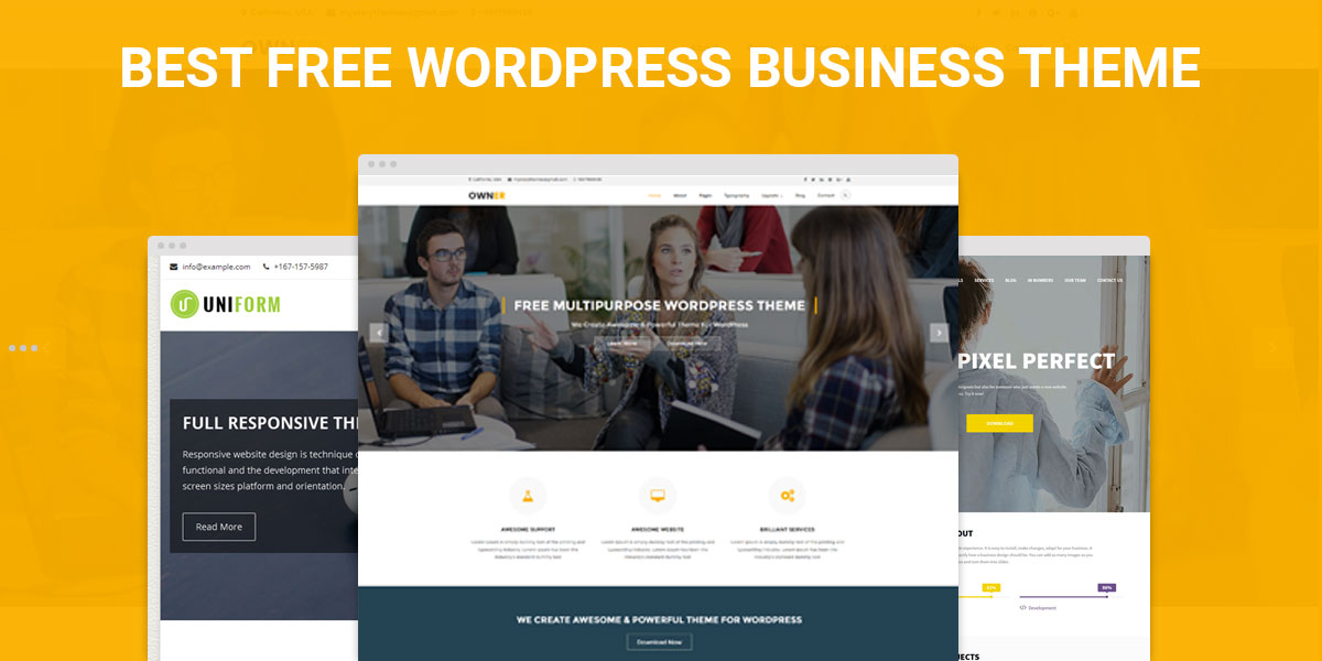 Best Free Responsive WordPress Business Themes
