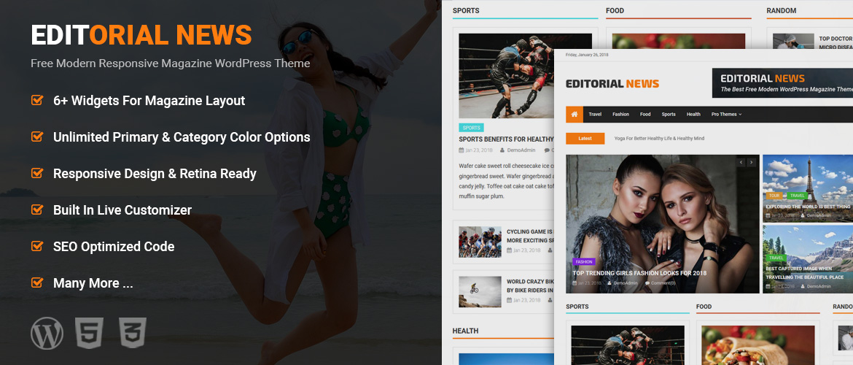 Creative Magazine WordPress Theme - Editorial News - MYSTERY THEMES