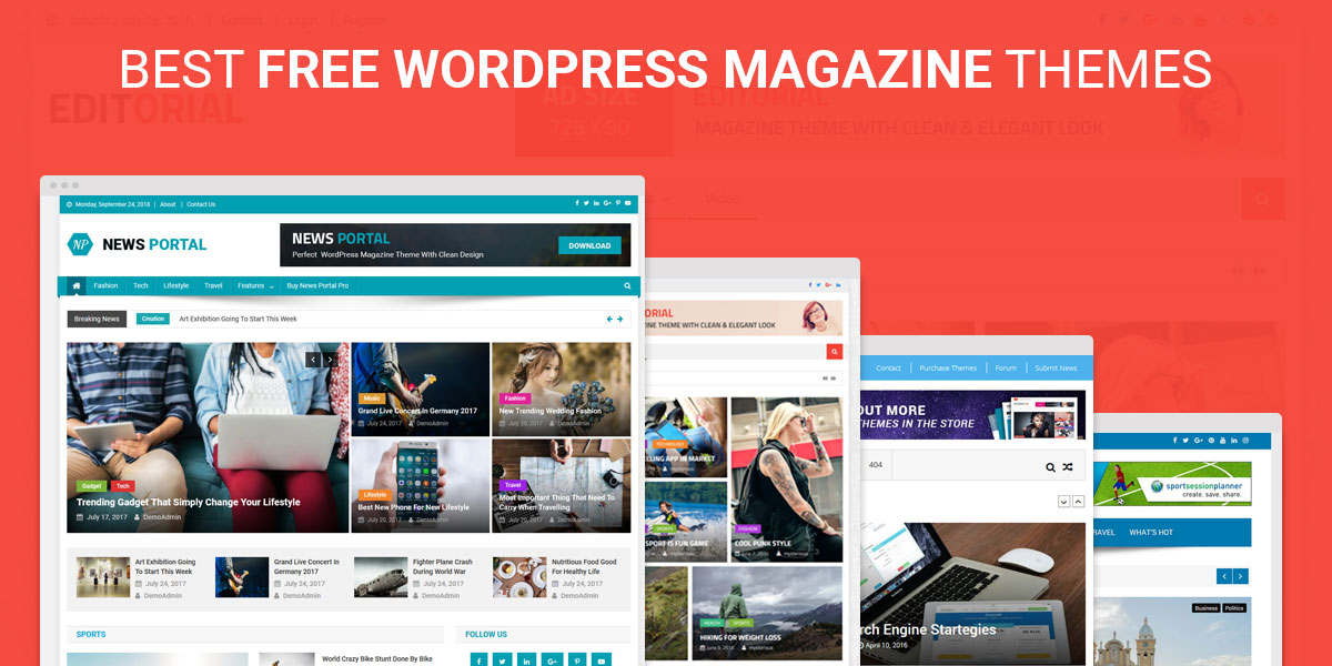 Best Free Responsive WordPress Magazine Themes
