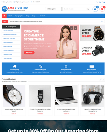 Premium Creative E Commerce Wordpress Theme Easy Store Pro Mystery Themes