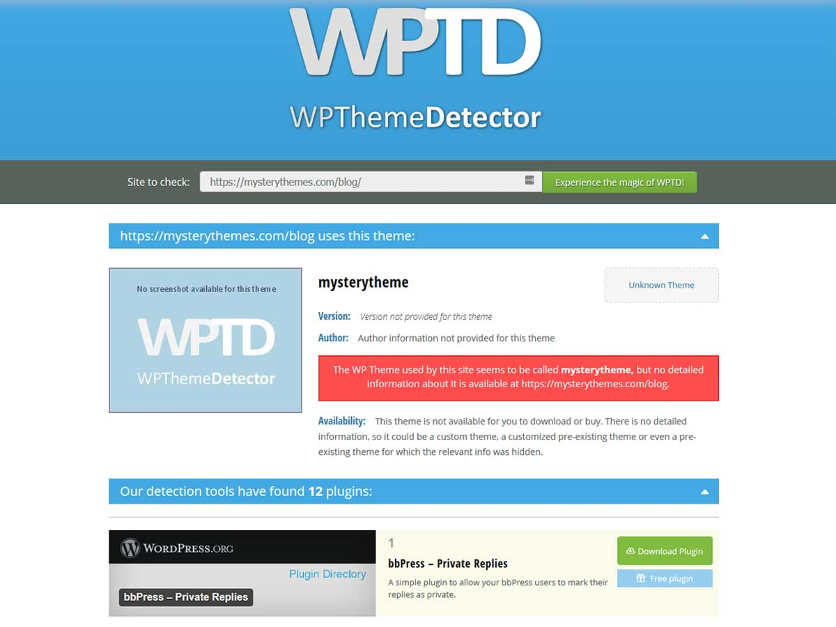 wordpress-theme-detector