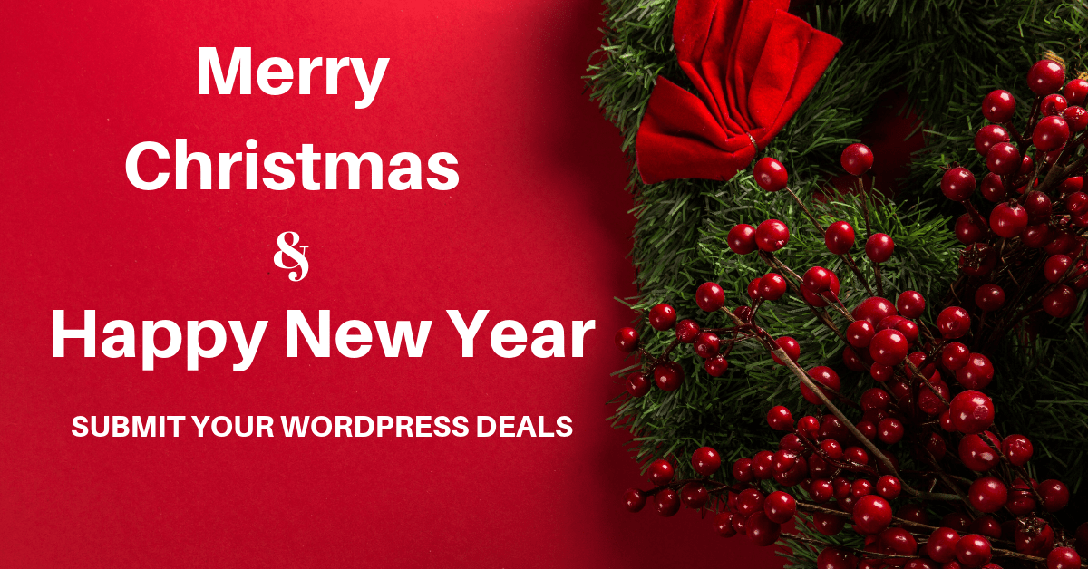 Christmas Deals 2020 WordPress Christmas & New Year Deals/Offers (2019   2020)   Submit