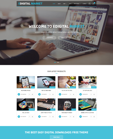 Free E-commerce Responsive WordPress Theme - EDigital