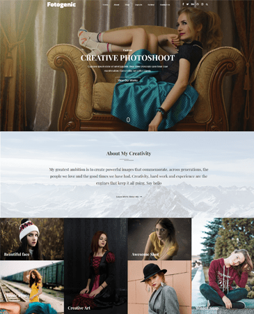 Free Creative Photography WordPress Theme 2019