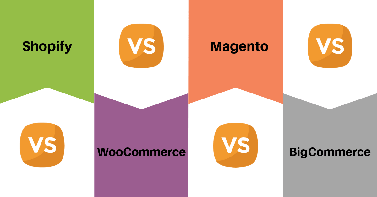 Shopify vs WooCommerce vs Magento vs Bigcommerce