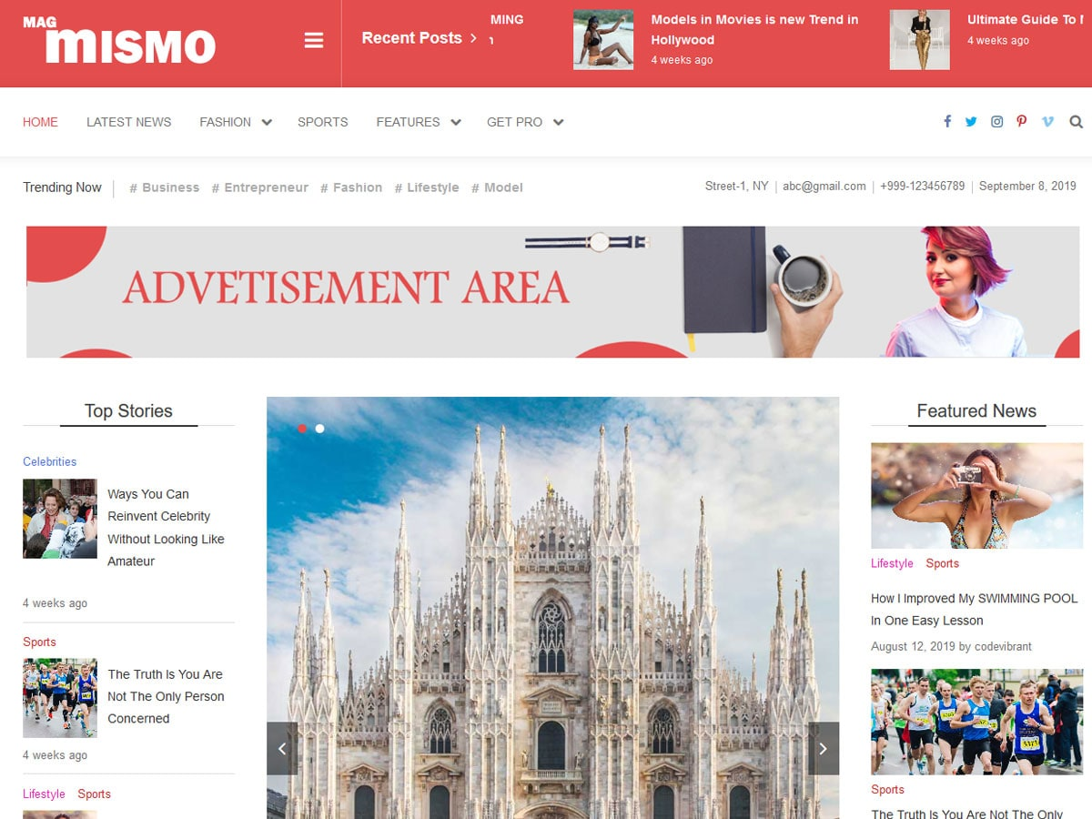 Mismo - Best WordPress magazine theme