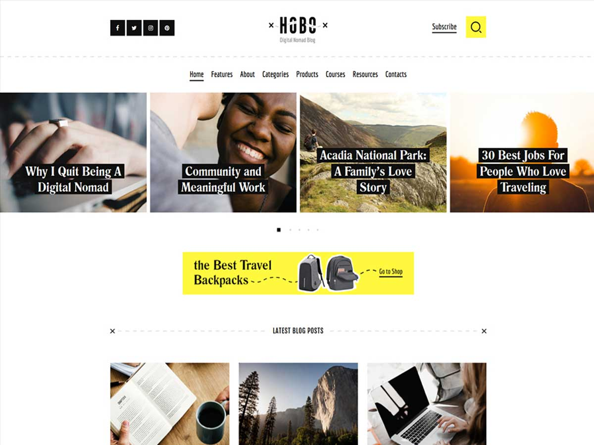 hobo-digital-nomad-lifestyle-blog-wordpress-theme