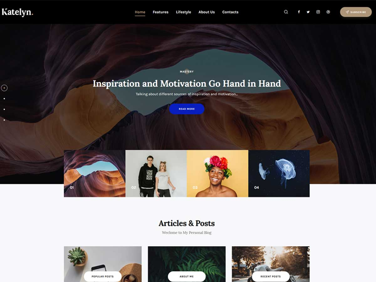 katelyn-gutenberg-blog-wordpress-theme