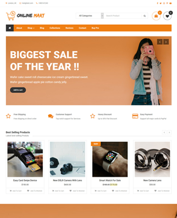 Free Creative E-commerce WordPress Theme