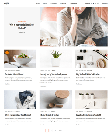 Creative Blogging WordPress Theme