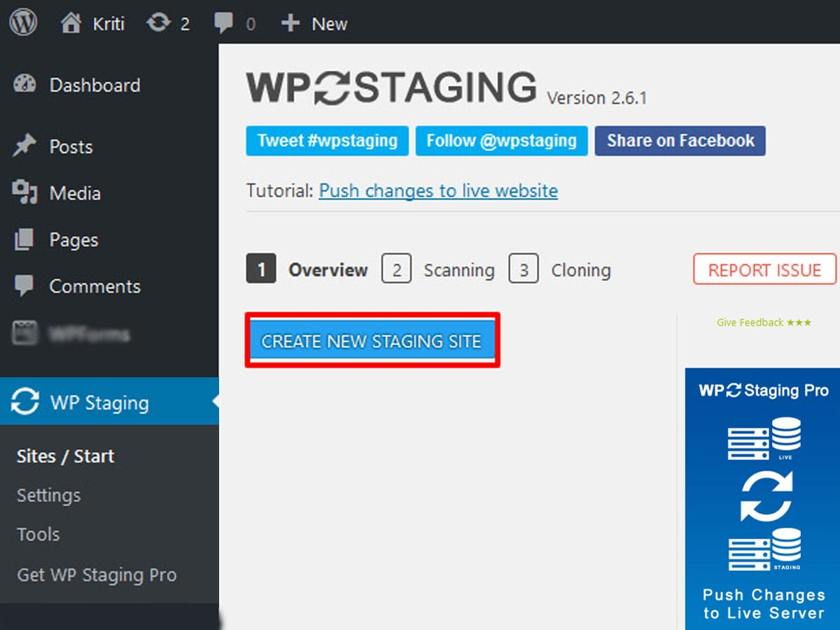 Create-WordPress-staging-website