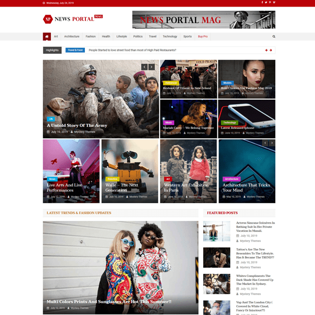 WordPress free magazine theme - News Portal Mag