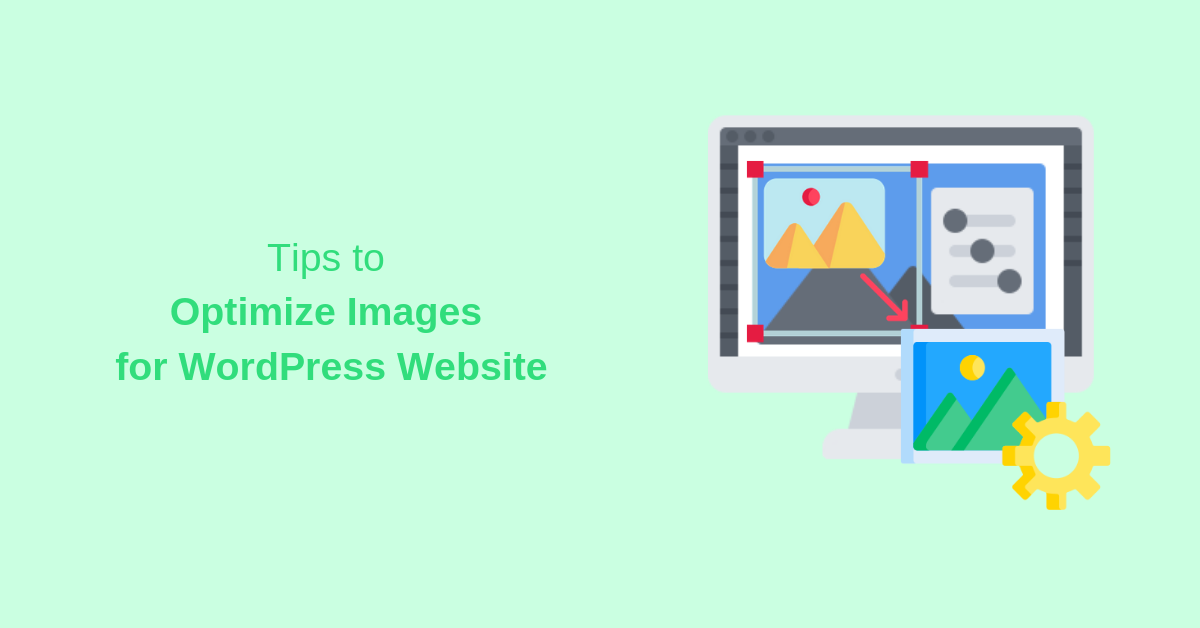 tips to optimize images for WordPress website