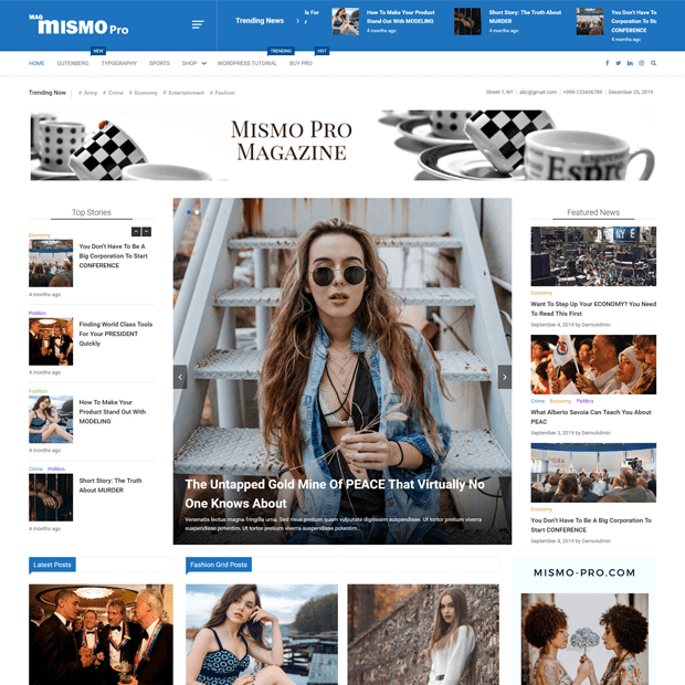 Best Creative Magazine Theme 2020