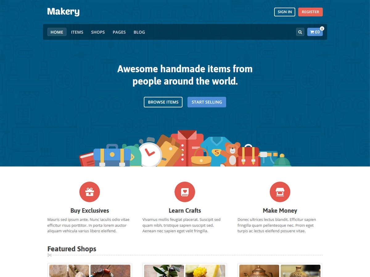Makery- vendor marketplace WordPress theme