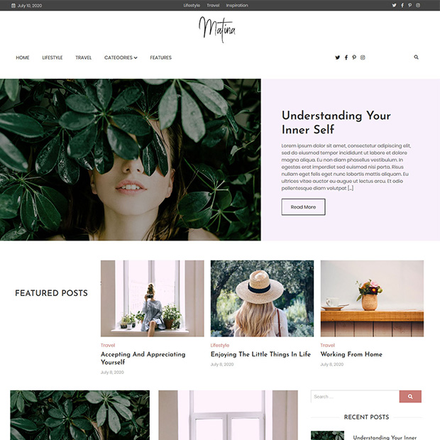 creative-WordPress-blog-theme-matina