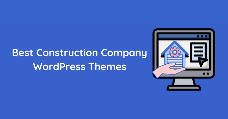 Best Construction Company WordPress Themes